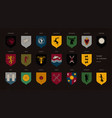 set of heraldic symbols or logos of various game vector image