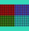 set of seamless plaid patterns for your creativity vector image