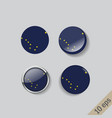 set round buttons with image alaska vector image vector image