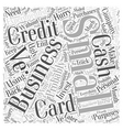 Small Business Credit Cards Word Cloud Concept vector image vector image