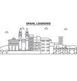 spain logrono architecture line skyline vector image vector image