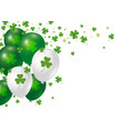 st patricks day background design of clover vector image