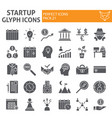 startup glyph icon set finance symbols collection vector image vector image