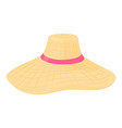 summer hat icon cartoon style vector image vector image
