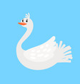 swan funny cartoon bird icon vector image