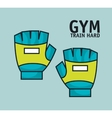 training hard gloves gym design vector image
