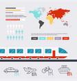 transportation infographic flat design modern vector image vector image