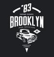 vintage pickup vehicle tee-shirt logo vector image vector image