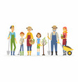 voluntary saturday work - cartoon people vector image vector image