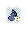 Zen basalt stones icon comics style vector image vector image