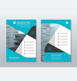 Blue annual report brochure layout template A4 vector image