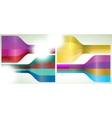 Set of four multicolor lines EPS 8 vector image