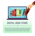 electronic library online documents digital book vector image