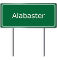alabaster alabama usa road sign green vector image vector image