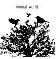 animal world birds tree background image vector image