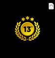 anniversary emblem 1-99 gold luxury decoration vector image vector image