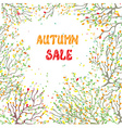 Autumn sale card with leaves and branches vector image