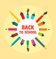 Back to school drawing background flat style