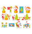best presents merry christmas set of pictures vector image vector image