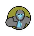 bigfoot thumbs up yeti winks emoji abominable vector image vector image