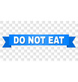 blue ribbon with do not eat title vector image vector image