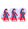 brave heroine female powerful superhero beautiful vector image