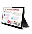 Business Tablet comupter vector image vector image