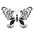 Butterfly Black Pictogram vector image vector image