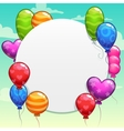 Cartoon background with bright colorful balloons vector image vector image