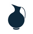 ceramic pitcher classic container silhouette icon vector image vector image