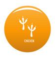 chicken step icon orange vector image vector image