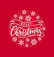 christmas hand-drawn lettering vector image