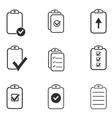 Clipboard icon set vector image vector image