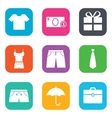 Clothing accessories icons Shopping signs vector image vector image