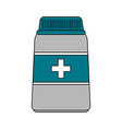 color image cartoon bottle with pills and label vector image vector image