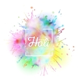 Colorful background for Holi celebration with vector image vector image