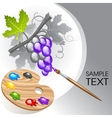 coloring the grape vector image vector image