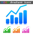 diagram symbol icon design vector image vector image