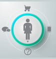 female selector round composition vector image vector image