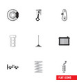 flat icon component set of cambelt heater conrod vector image vector image