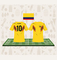 football colombia sport wear tshirt vector image vector image