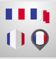 france flag design set vector image