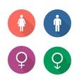 Gender symbols flat design icons set vector image vector image