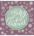Green and purple christmas background with vector image