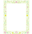 green spring frame with flowers vector image vector image