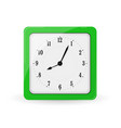 green square alarm clock vector image vector image