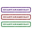 guantanamo bay watermark stamp vector image vector image
