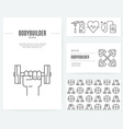 Gym Business Set vector image