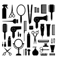 Hairdressing equipment vector image vector image