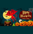 halloween holiday trick or treat greeting banner vector image vector image